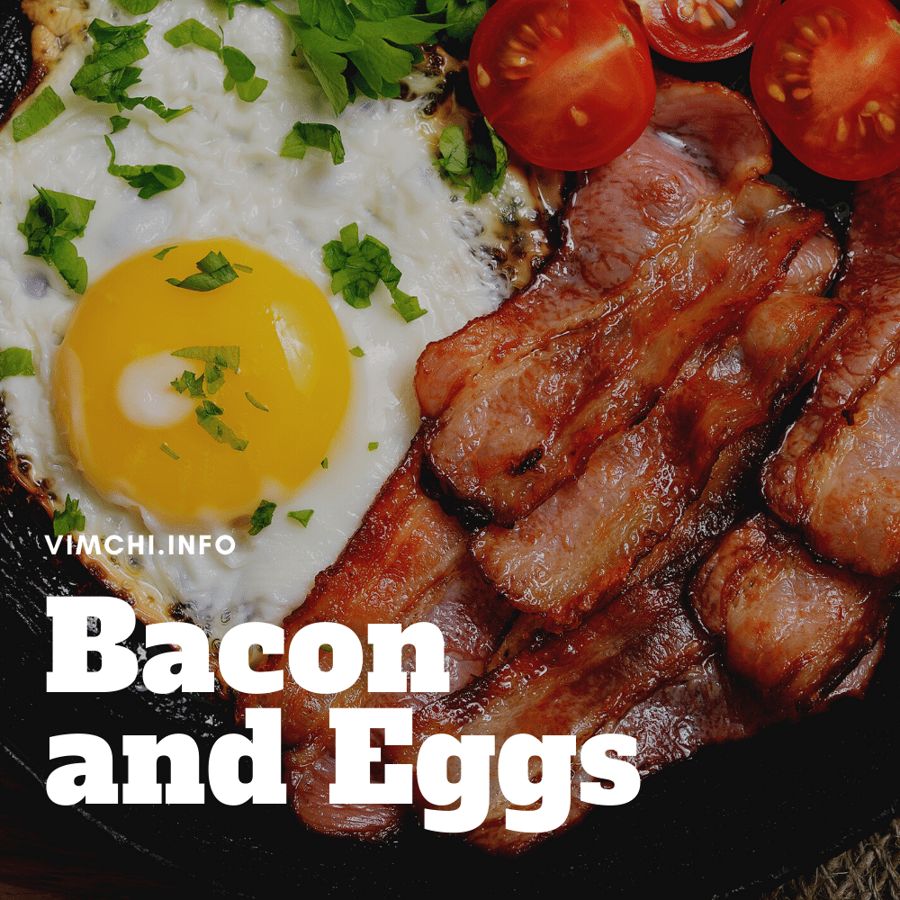 OMAD carnivore diet meal plan - bacon and eggs