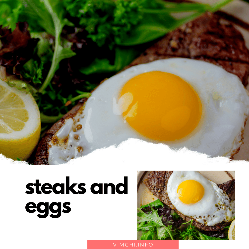 OMAD meal ideas -- steaks and eggs
